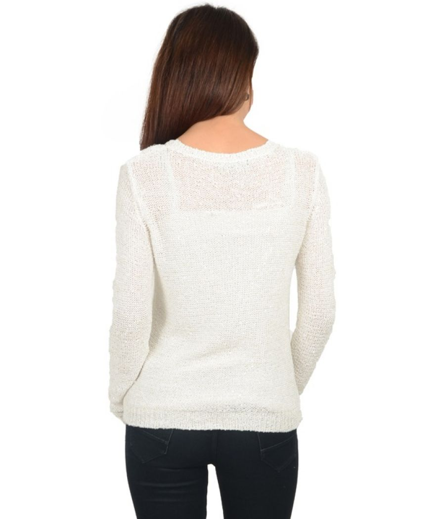Lindiex White Knitted Sweater