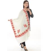 White/Multi Floral Shawl
