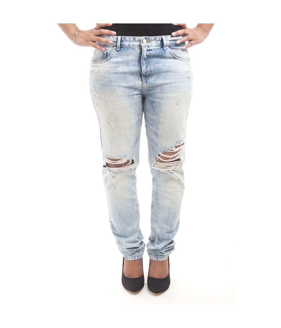 Zara Denim Blue Regular Waist Flat Front Skinny Fit Ripped Casual Jeans