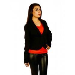Jane Norman Black Waistcoat Blazer