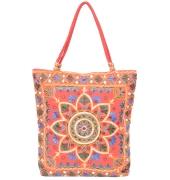 Orange Embroidered Jhola Bag