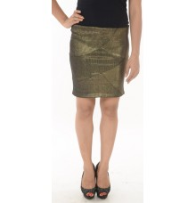 Zara Basic Shimmery Golden Skirt