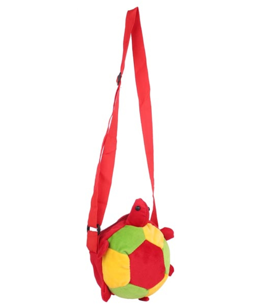 Envie Faux Fur Red, Yellow and Green Coloured Zipper Closure Sling Bag
