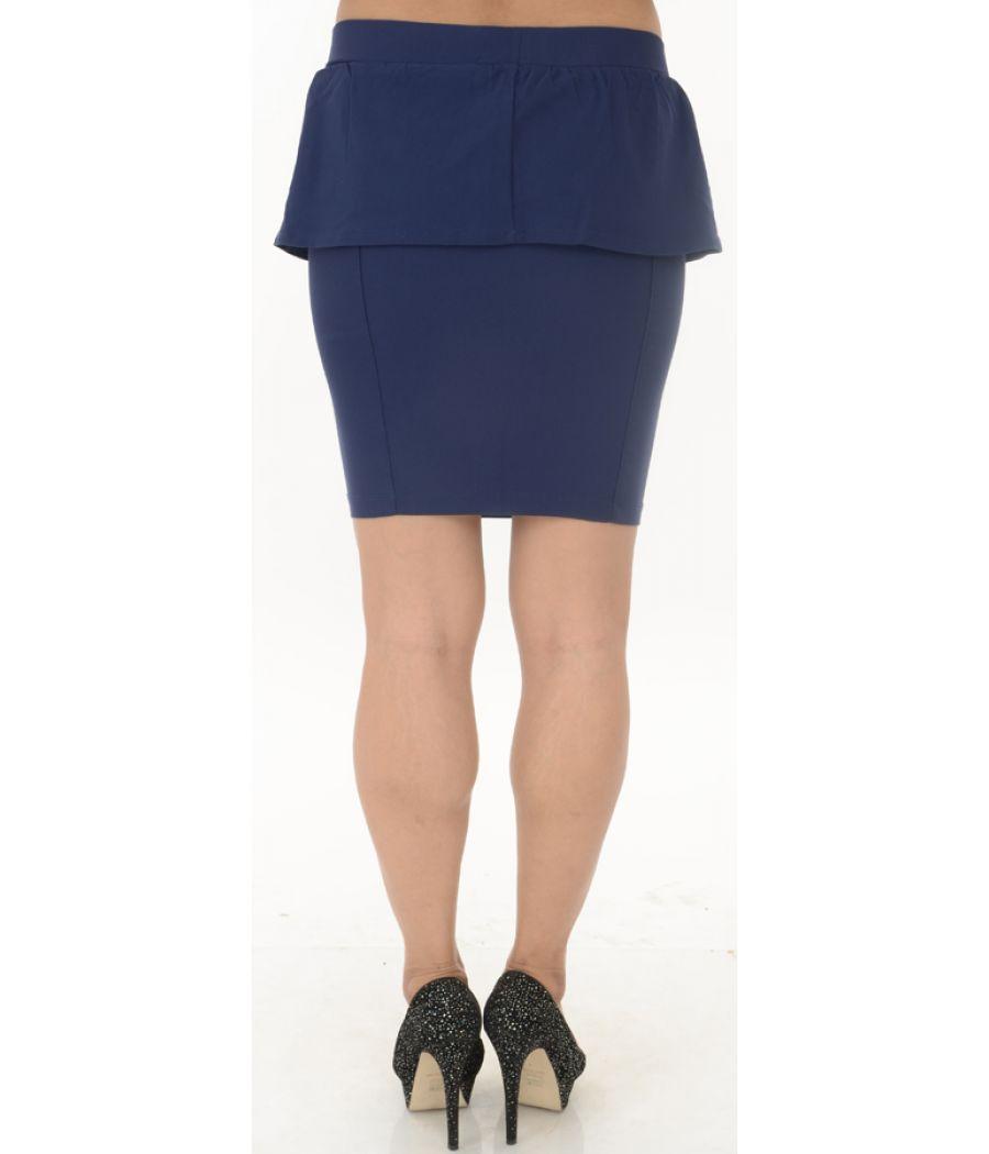 Stradivarius Navy Blue Peplum Skirt