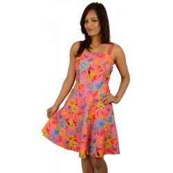 Bizarre Pink Floral Skater Dress