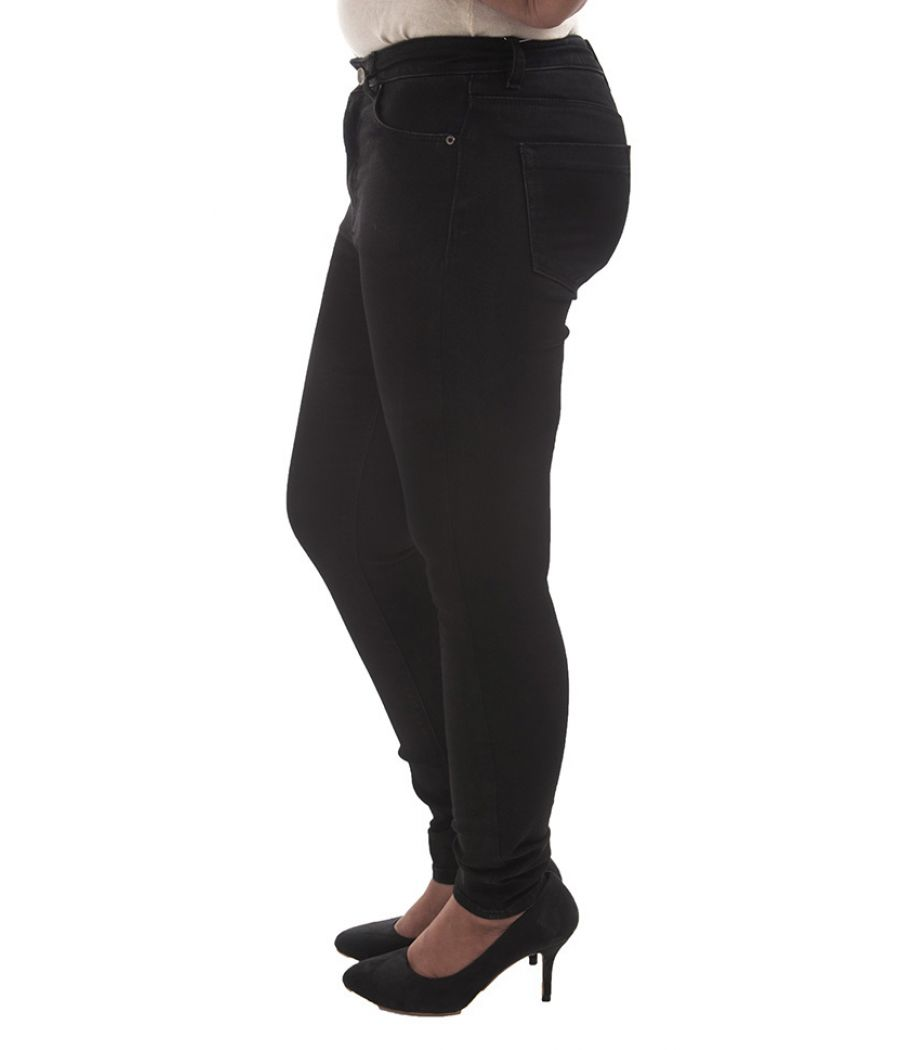 Asos Denim Black Solid Skinny Full Length Button Closure Regular Waist Casual Jeans