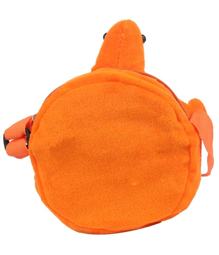 Envie Faux Fur Orange, Pink and Blue  Coloured Zipper Closure Sling Bag