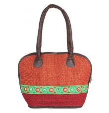 Aliado Cloth Fabric Maroon Coloured Zipper Closure  Handbag