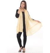 Cream/Yellow Bordered Beauty Shawl