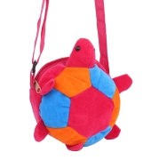 Envie Faux Fur Pink, Orange and Blue  Coloured Zipper Closure Sling Bag