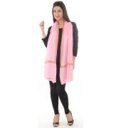 Light Pink/Multi Bordered Beauty Shawl