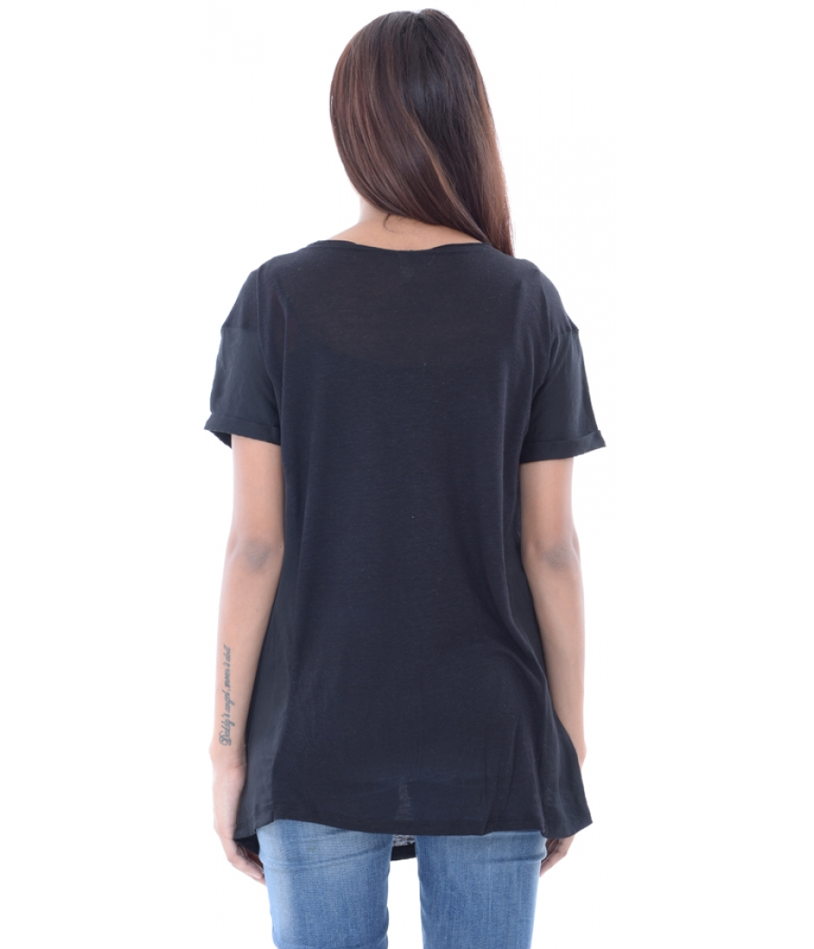 Stradivarius Black Plain Top