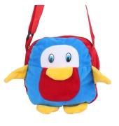 Envie Faux Fur Red and Blue  Coloured Zipper Closure Sling Bag