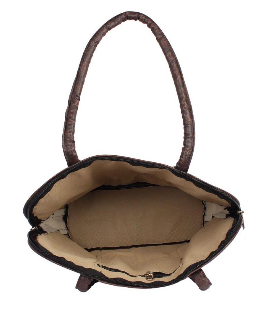 Aliado Cloth Fabric Blue and Maroon Coloured Zipper Closure  Handbag