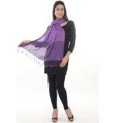 Purple & Black Paisley Print Stole