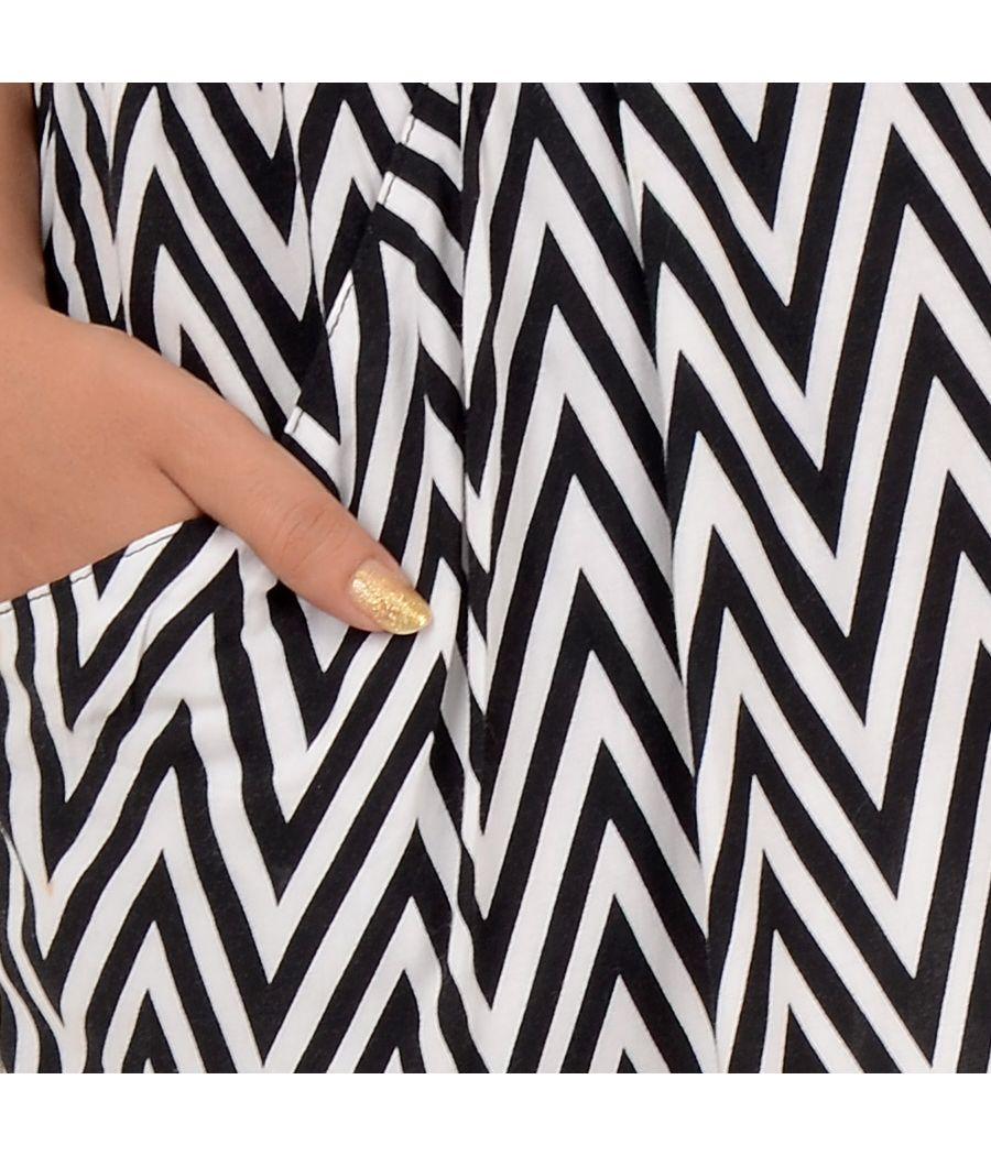 Divided by H&M Viscose Zig Zag Printed Skirt