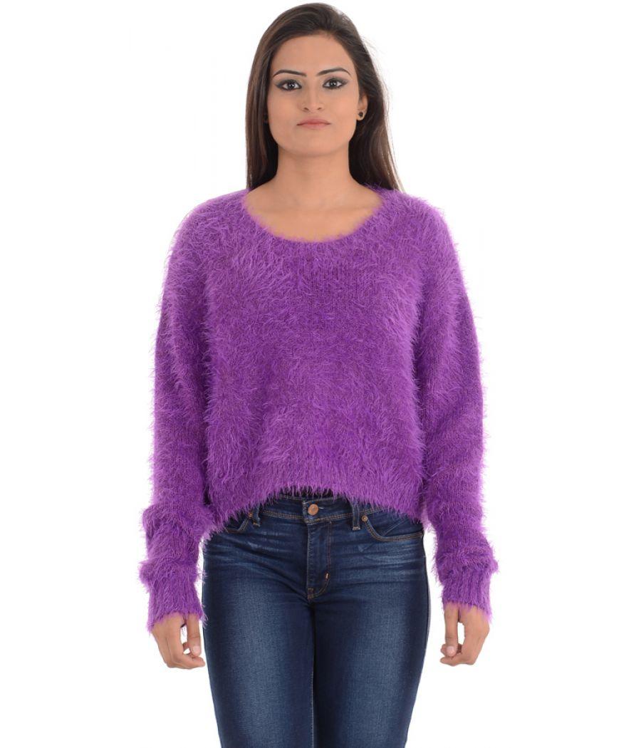 Estance Purple Coloured Round Neck Sweater