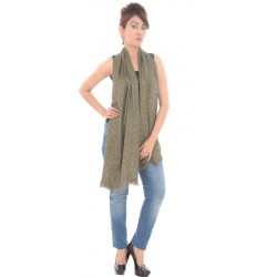 Ann Harvey London Viscose Blend Sequined Grey Stole