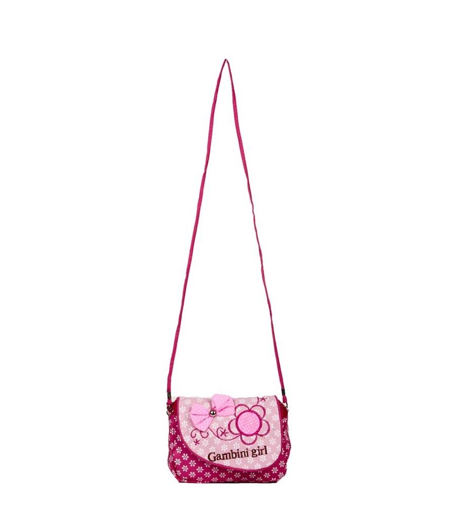 Envie  Printed Pink & White Zipper Closure Sling Bag