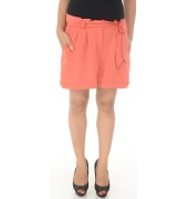 Miss Selfridge Orange Knot Detailed Shorts