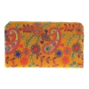 Envie Cloth/Textile/Fabric Embroidered Yellow & Multi Zipper Closure Wallet
