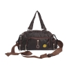 Aliado Coffe Brown  Coloured Solid Zipper Closure Sling Bag