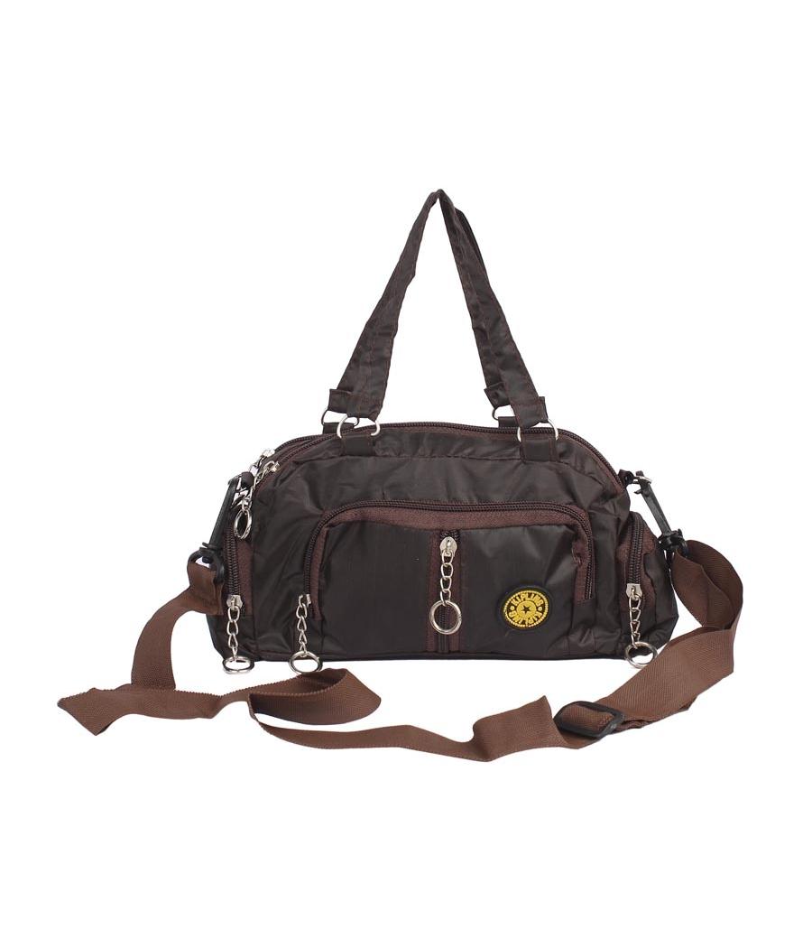 Aliado Coffe Brown  Coloured Solid Zipper Closure Sling Bag
