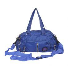 Aliado Blue   Coloured Solid Zipper Closure Sling Bag