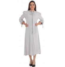 Ghost London Grey Pleated Skater Dress