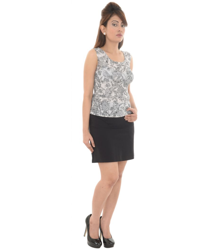 H&M Viscose Plain Mini Black Skirt