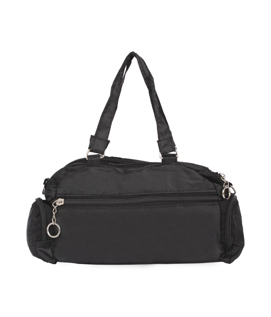 Aliado Black   Coloured Solid Zipper Closure Sling Bag