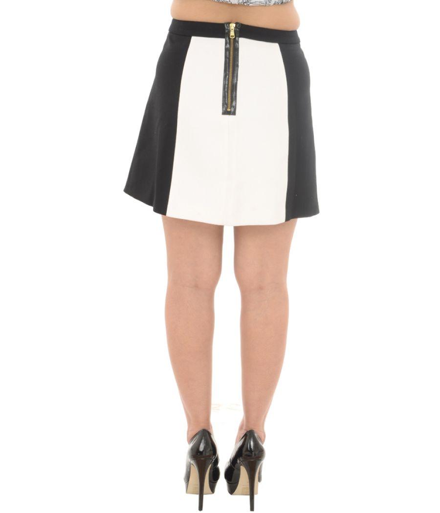 Zara Woman White & Black Mini Skirt