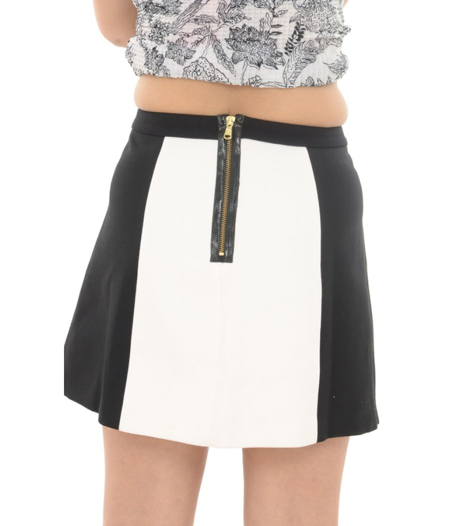 e2bea2125b92 Zara Woman White & Black Mini Skirt Online for Women in India - Etashee