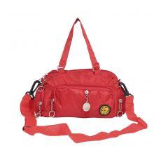 Aliado Red  Coloured Solid Zipper Closure Sling Bag