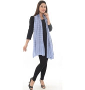 Light Blue Checkered Stole