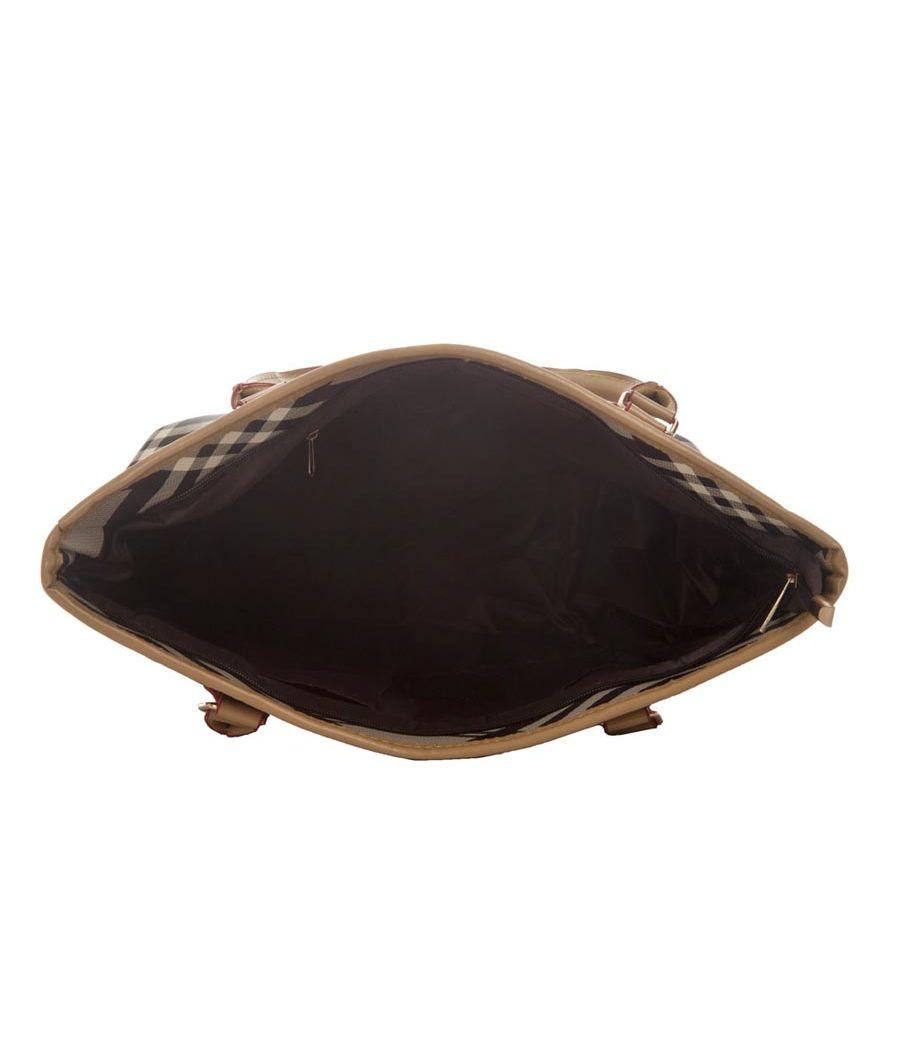 Aliado Faux Leather Printed Grey & Black Zipper Closure Ladies Handbag