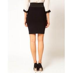 Asos Viscose Blend Black Pencil Skirt