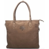 Buck Leather Light Brown Handbag