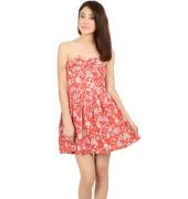 Red Floral Printed Off Shoulder Dress