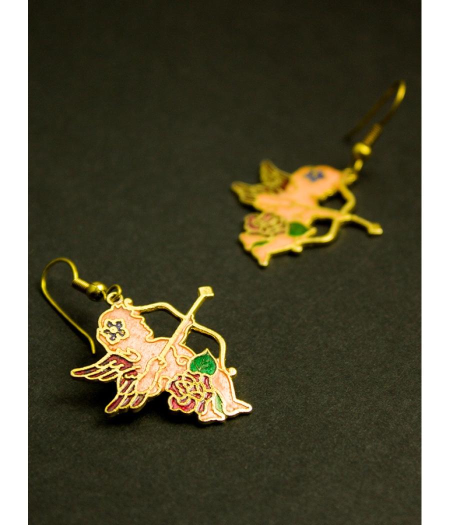 Copper Enamel Earring
