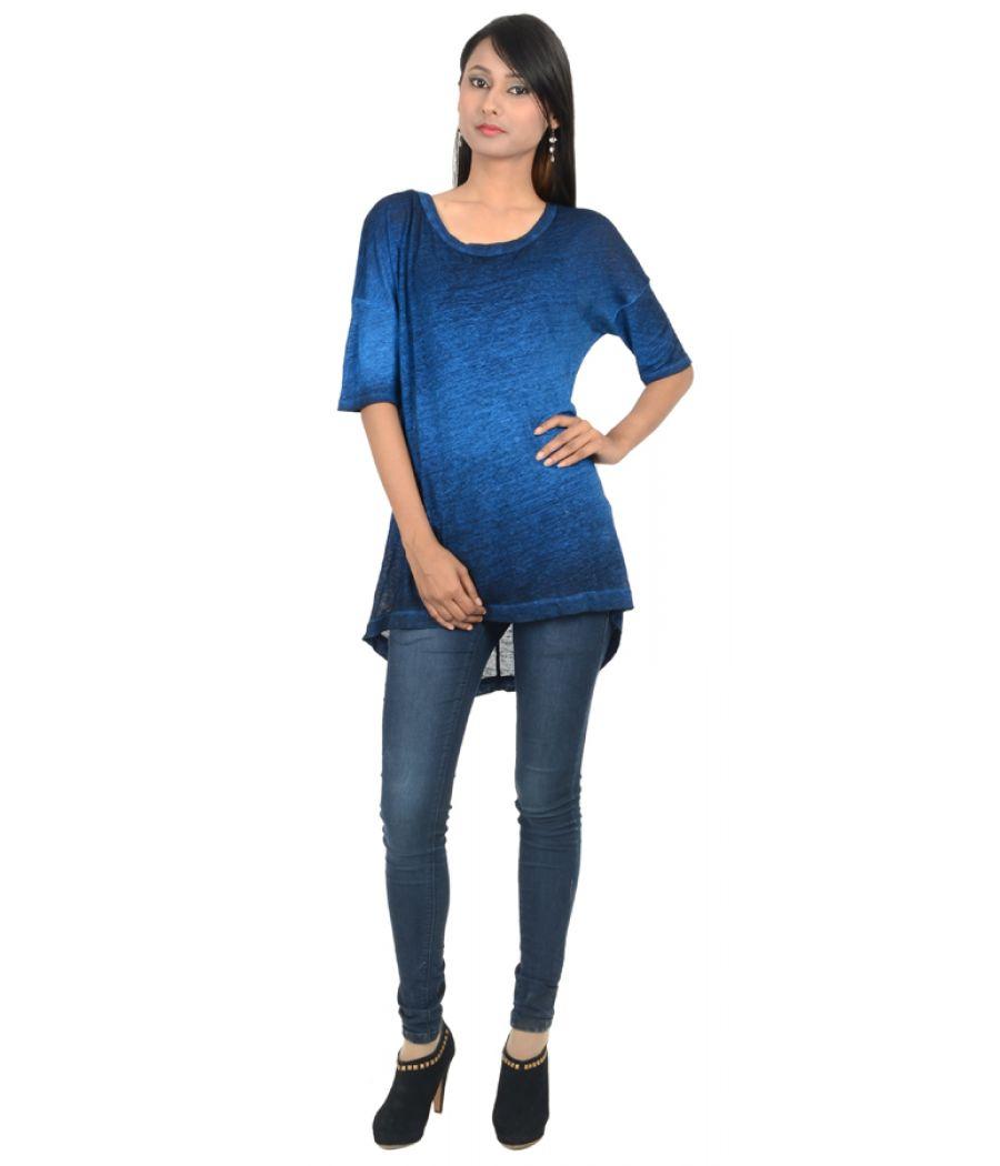 Zara Blue Shaded Top
