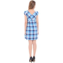 Blue Check Cotton Dress