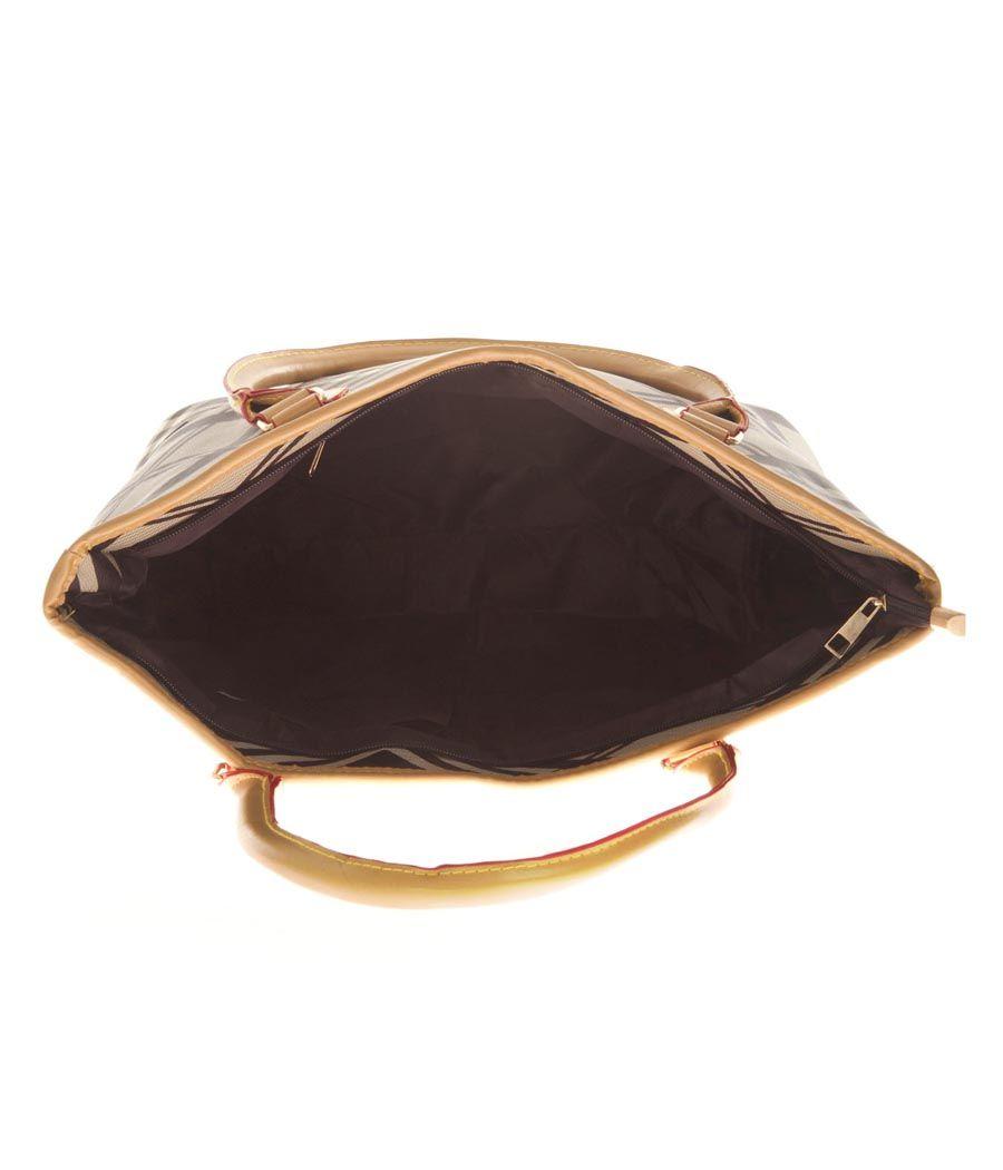 Aliado Faux Leather Printed Black & White Zipper Closure Handbag