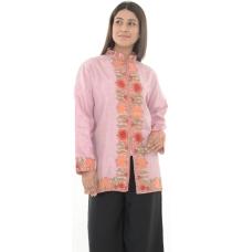 Pink Embroidered Woollen Kurti