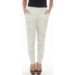 Zara Basic Multi Abstract Print Trousers
