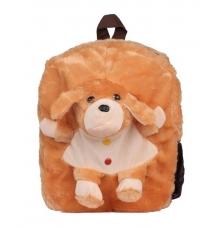 Envie Faux Fur Brown  Coloured Zipper Closure Backpack