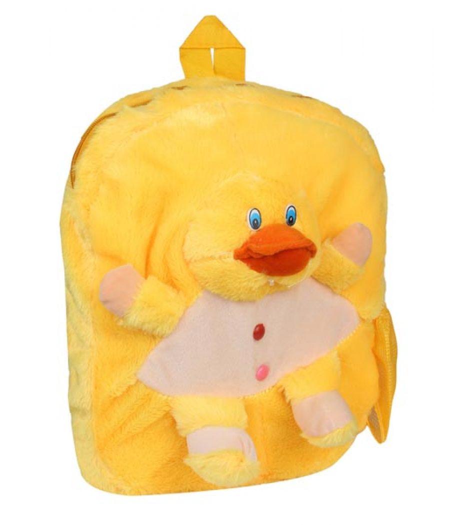 Envie Faux Fur Multi Coloured Zipper Closure Backpack