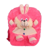 Envie Faux Fur Pink  Coloured   Zipper Closure Backpack