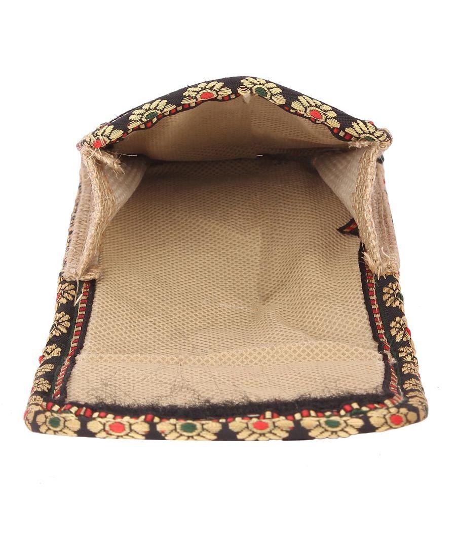 Aliado Jute Beige Velcro Closure Sling Bag