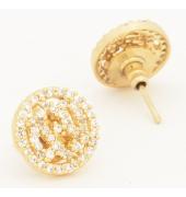 Golden Round Shaped Studs